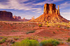 Monument Valley at Sunset.<br /> The Left Mitten