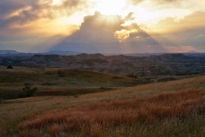 Sunset at Theodore Roosevelt National Park, ND