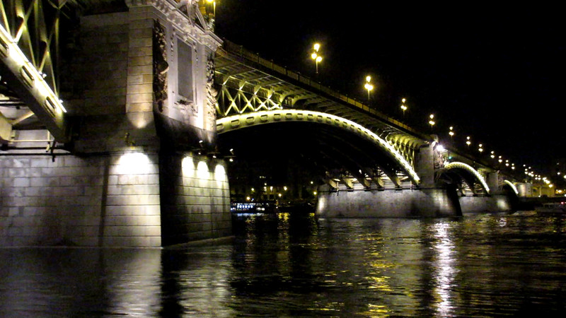 One of the bridges in Budapest, Hungary