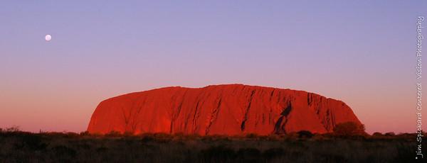 Uluru Sunset with Full Moon