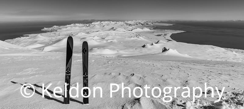 Snaefellsjokull view from Glacier 3 bw
