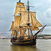 """HMS Bounty""<br /> Tall Ship Challenge<br /> Savannah River<br /> Savannah, GA<br /> (she was lost at sea during Superstorm ""Sandy"" in November 2012)"