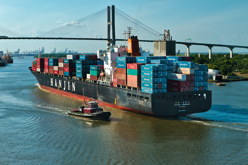 """Super Cargo Ship""<br /> Savannah River<br /> Savannah, GA"