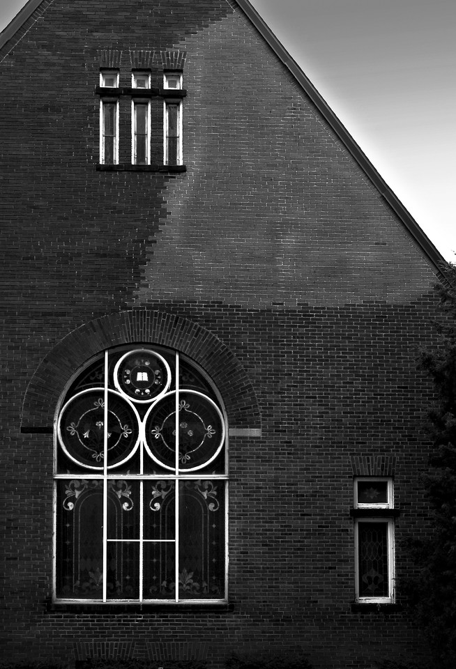 church windows  B&W