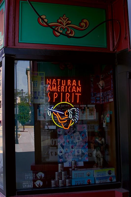 Natural American Spirit  reflection 8115