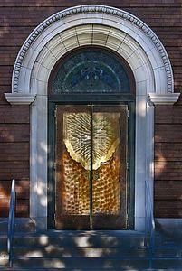 Dappled doorway St Josephs 2966