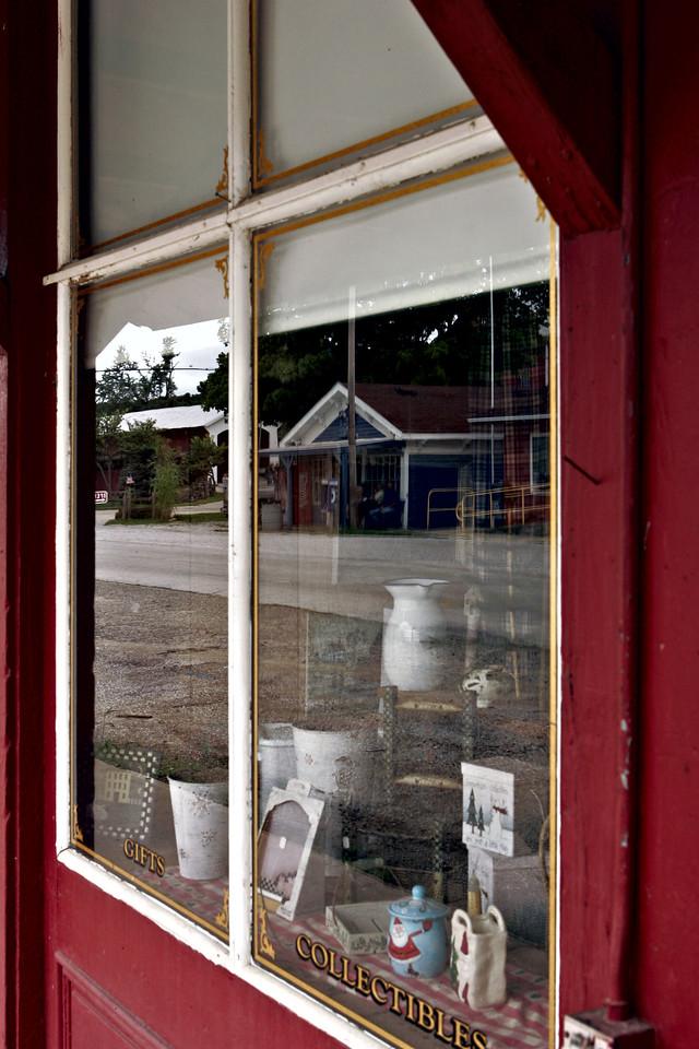 Relection in Bridgeton window 7378