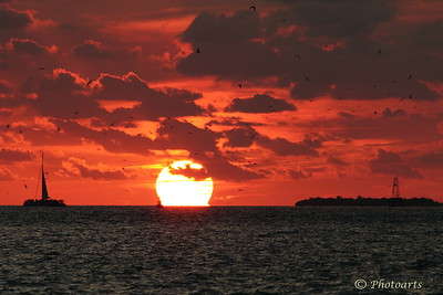 """Key West Sunset"" Sun sets in a dramatic fashion over the Gulf of Mexico. #72101193  © Payam Nashery - Photoarts"