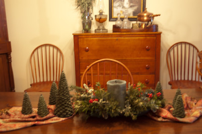 The dinning room at Christmas.