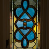 This is one of the panels of stain glass that Stephen's mother found in Pascagoula where Stephen grew up.