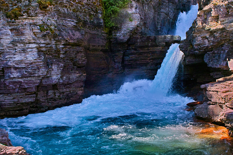 St Mary's Falls Glacier National Park