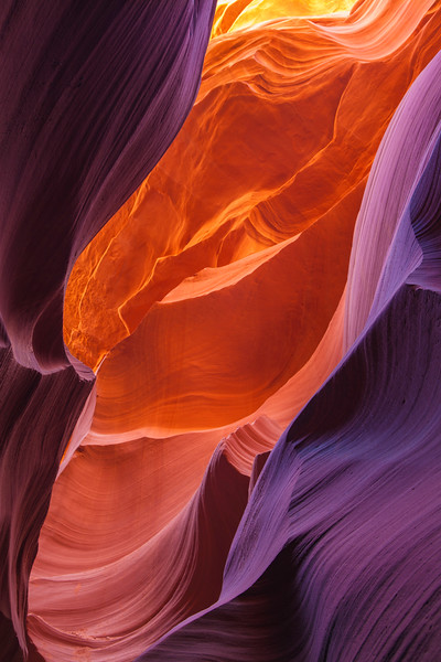 Reflecting Light in Lower Antelope Canyon