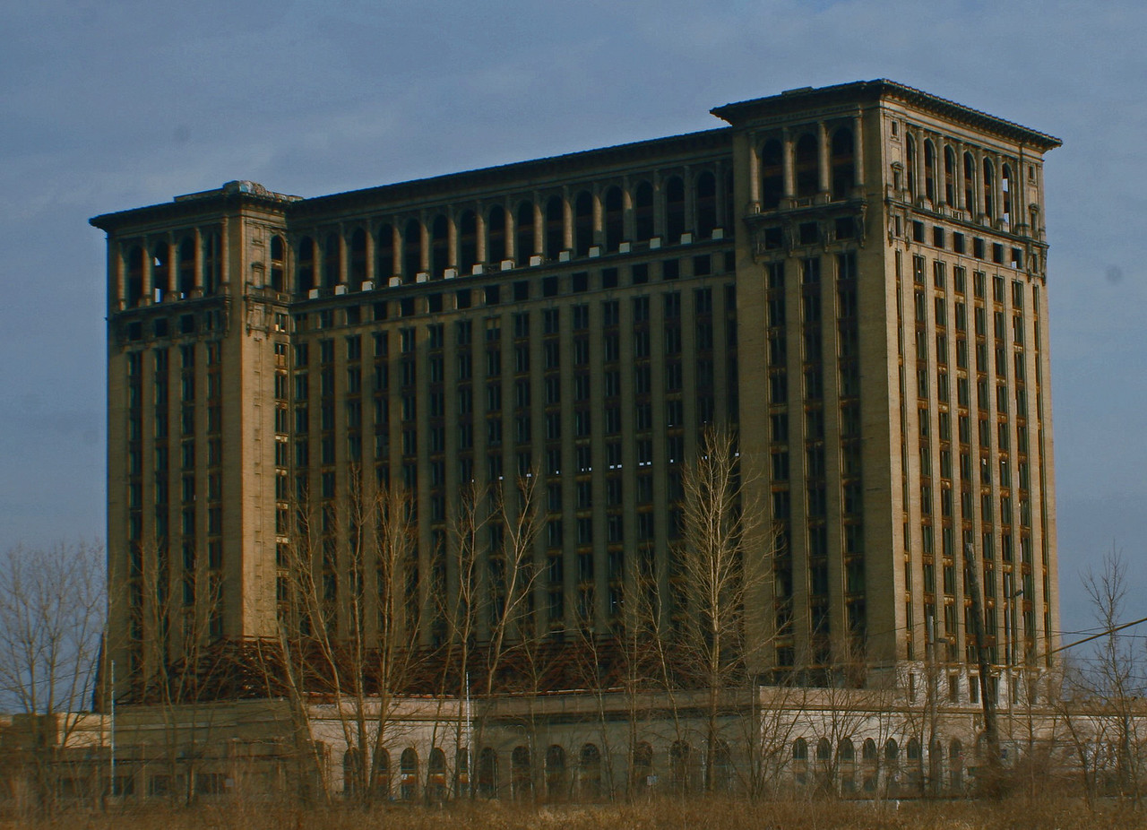 The old Michigan Central Station building.For some reason I love this building,how it looks,the architecture of it just wows me every time i go by it.