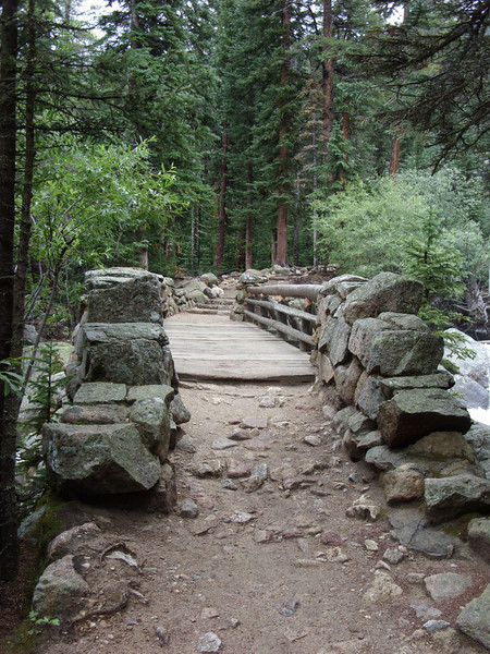 Bridge over the North St. Vrain as we're about to head up Cony Creek.