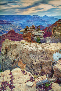 Grand Canyon  South Rim after sunset