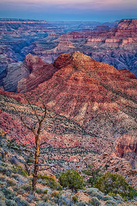 Grand Canyon before sunrise, HDR