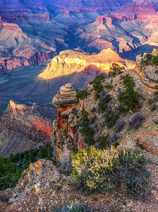 Grand Canyon, evening light on south rim iphone 4 6:03 pm