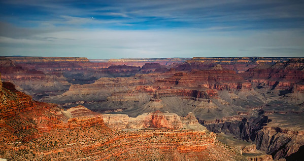 After sunset over the Grand Canyon 3-25-13 at 7:58pm