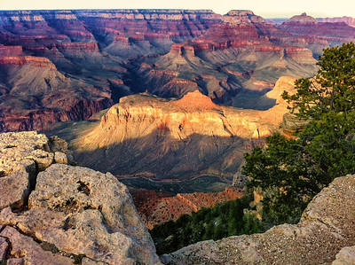 Grand Canyon, evening light on south rim iphone 4 5:55 pm
