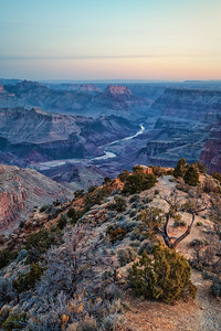 Grand Canyon before sunrise