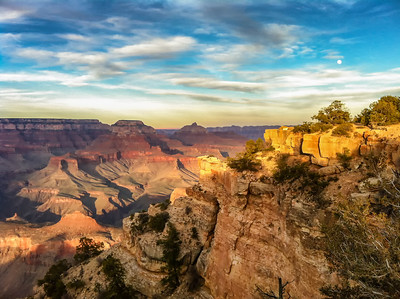 Evening Light at  6:08 pm South rim of the Grand Canyon iphone 4 + Adobe Lightroom