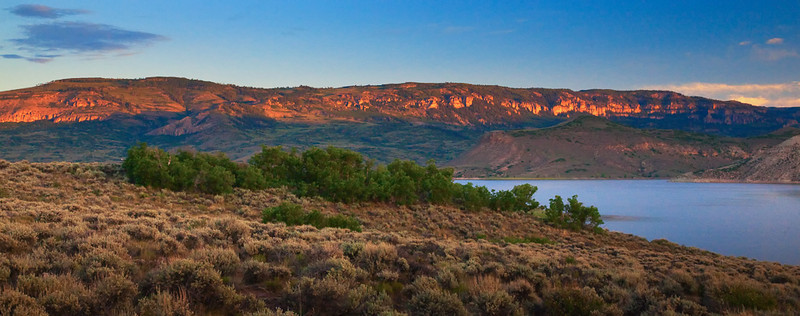 Red Rock Morning Glow Blue Mesa Reservoir