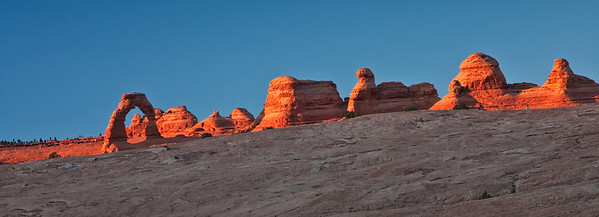 Delicate Arch in evening light, wider view Arches National Park Moab, Utah 10/9/11