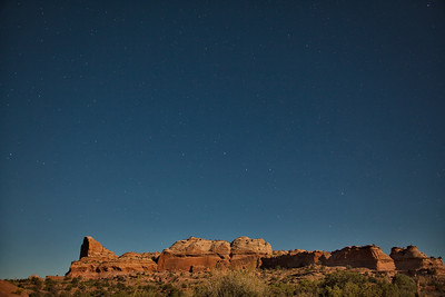 Night sky with stars Green River Overlook Canyonlands National Park Moab, Utah 10/11/11