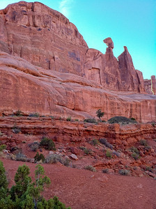 Park Avenue, west wall,  iphone shot Arches National Park Moab, Utah 10/12/11