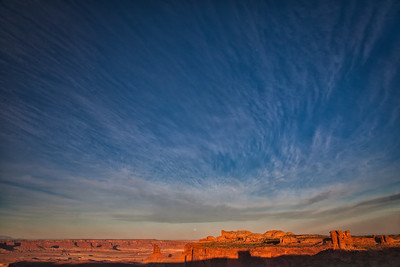 After sunrise,  Green River overlook Canyonlands NP Moab, Utah 10/12/11