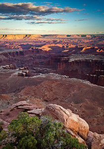 Last light over Canyonlands Grandview Point, CNP Moab, Utah 10/11/11
