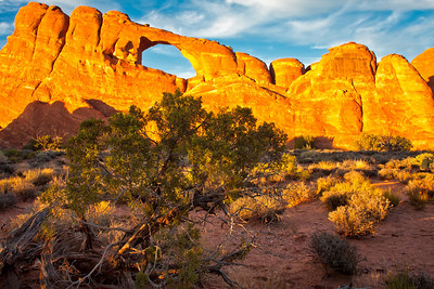 Skyline Arch, early evening light Arches National Park Moab, Utah 10/12/11