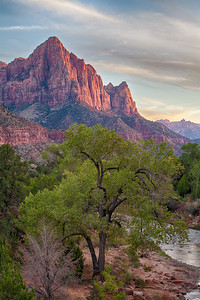 The Watchman, 2-image HDR composite Zion National Park Springdale, Utah  October 13, 2012
