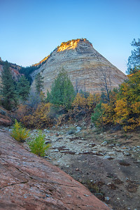 Checkerboard Mesa at sunrise Zion National Park Springdale, Utah  October 15, 2012