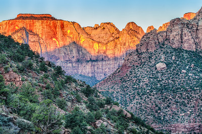 West Temple at sunrise Zion National Park Springdale, Utah  October 14, 2012