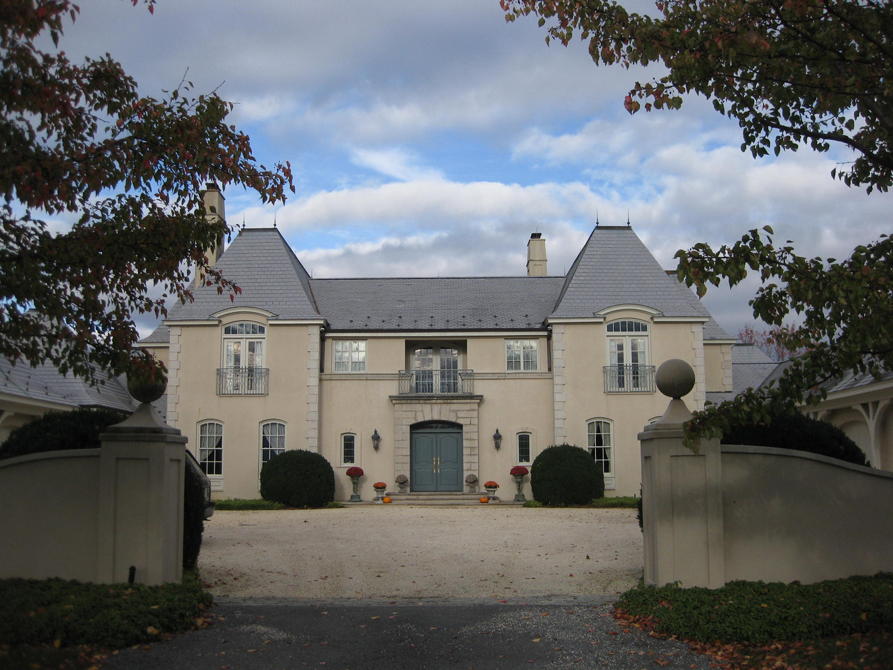 02-House Front-French Country Garden on far right side of home