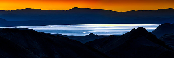Pyramid Lake Graphic Sunrise from Painted Hills
