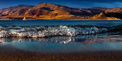 Pyramid Shoreline Water Level Nevada