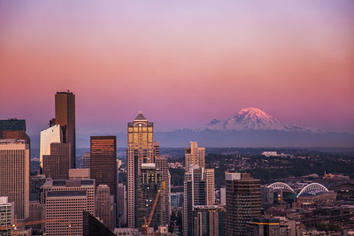Seattle downtown from the top of the Needle