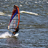 Sailboarding on Columbia River