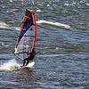 Sailboarding on Columbia River