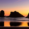 Bandon, Oregon at sunset