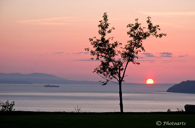 """Days Gone By"" Sunset over Puget Sound, from Mukilteo. #73050758  © Payam Nashery - Photoarts"