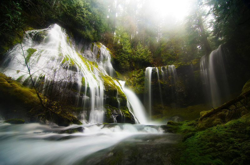Panther Creek Falls on the Washington side of the Columbia River Gorge