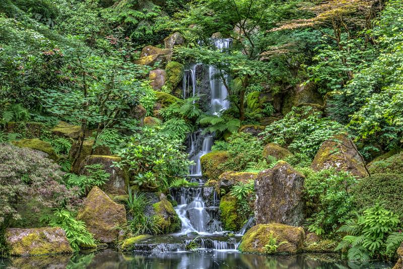Waterfall - Portland Japanese Garden, OR