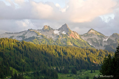 """Tatoosh Range"" Tatoosh Range in Mt. Rainier National Park, Skyline trail. #76081379  © Payam Nashery - Photoarts"