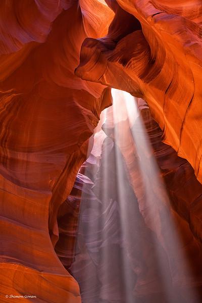 Sun rays - Antelope Canyon, Page Arizona