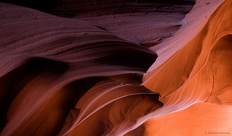 Antelope Canyon, blending of colors