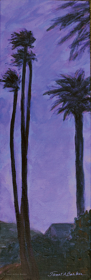 Purple palms on San Luis-enhanced canvas