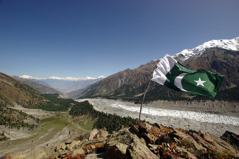 View from Beyal viewpoint to the Greater Karakorum Range including Rakaposhi